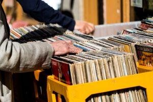 Stock Image – Rumaging Through Old Albums
