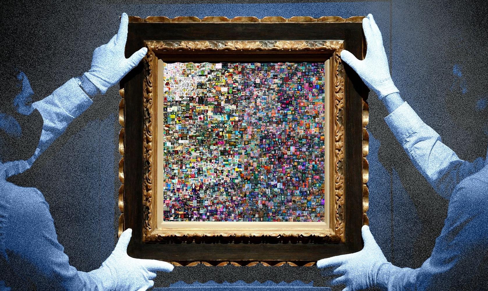 Stock Image – NFT Art Hanging (cropped)